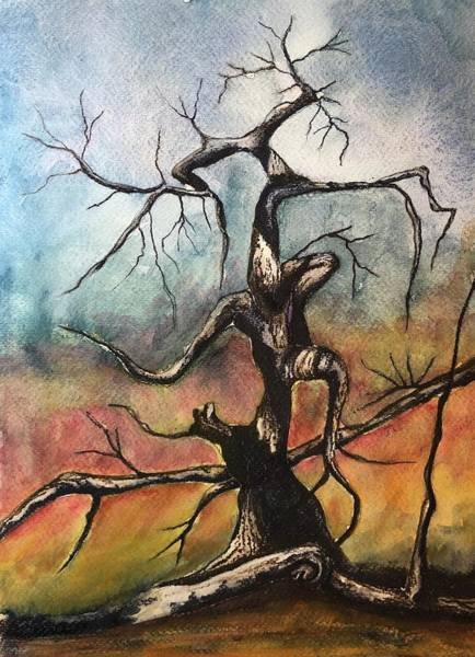 Mixed Media - Tree 2 by Mary Rimmell