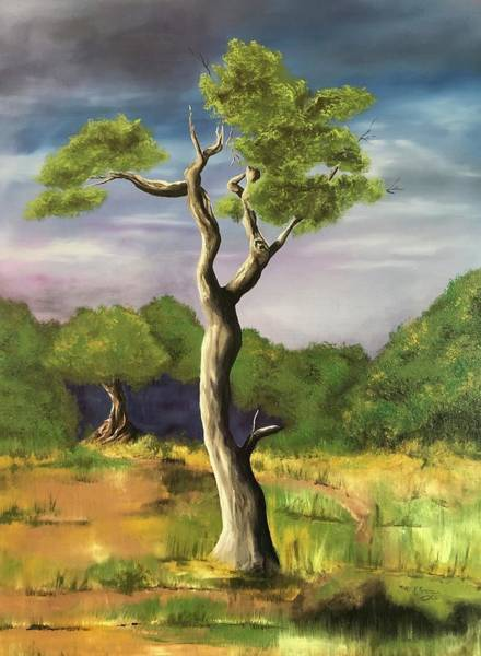 Painting - Tree 3 Of 4 by Mary Rimmell