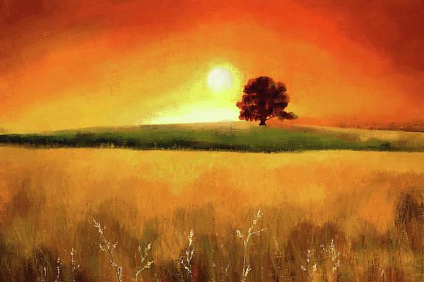 Digital Art - Tree At Sunrise by Tanja Udelhofen