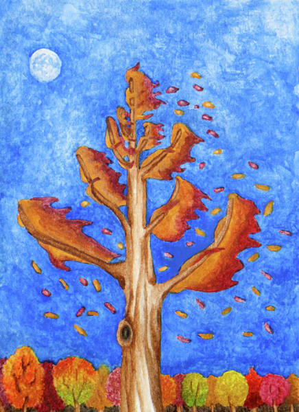 Painting - Tree In Autumn Wind I by Robert Morin