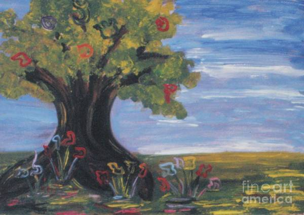 Painting - Tree Letters by Hebrewletters Sl