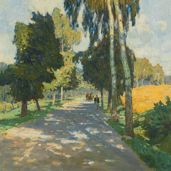 Painting - Tree Lined Road In Bruntal by Carl Moll