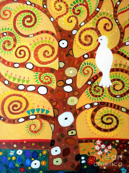 Wall Art - Painting - Tree Of Life After Klimt by A Hillman