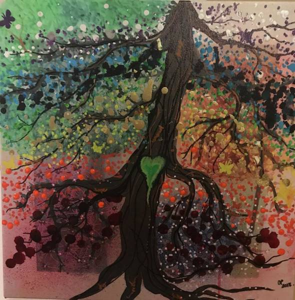 Painting - Tree Of Life Chakra Tree by Christine Paris