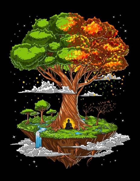 Wall Art - Digital Art - Tree Of Life Meditation by Nikolay Todorov