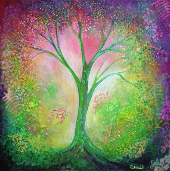 Wall Art - Painting - Tree Of Tranquility by Jennifer Lommers