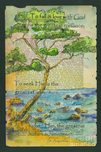 Wall Art - Painting - Tree Of Wisdom by Maria Hunt