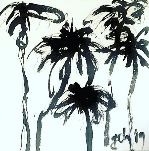Wall Art - Painting - Trees 2 - Palms by Gerrit Oppelland-Hampel