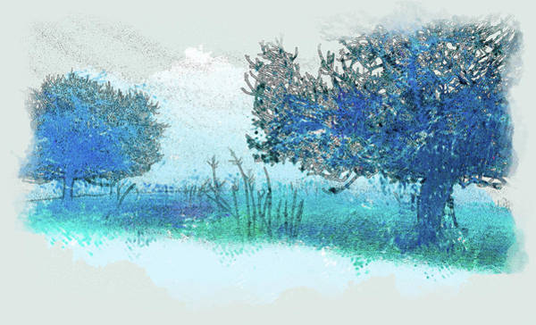 Wall Art - Digital Art - Trees In The Fog by Dan Carmichael