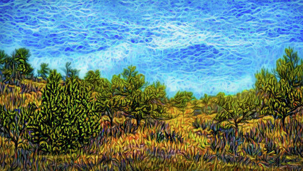 Digital Art - Trees In The Meadow by Joel Bruce Wallach
