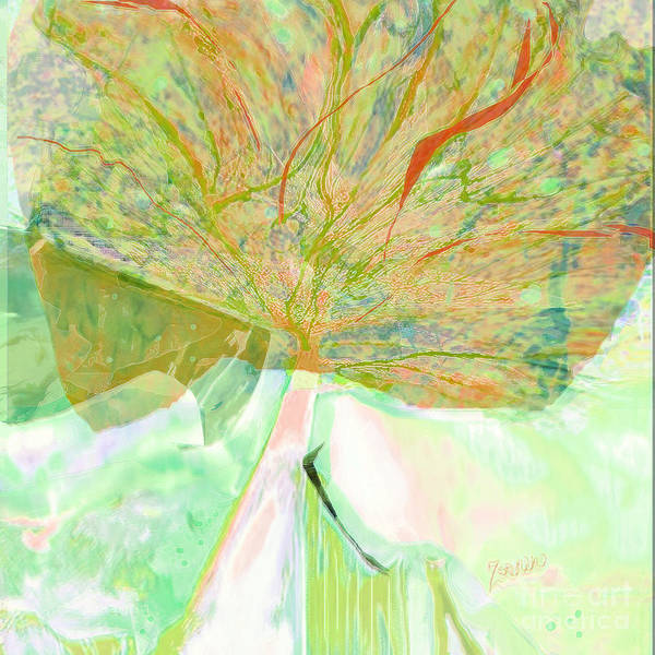 Organic Abstraction Mixed Media - Trees Of A Different Color No 1 by Zsanan Studio