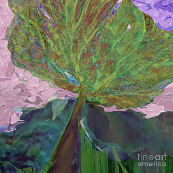 Organic Abstraction Mixed Media - Trees Of Different Colors  We All Drink Water, No. 2 by Zsanan Studio