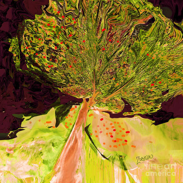 Organic Abstraction Mixed Media - Trees Of A Different Color No.4 by Zsanan Studio