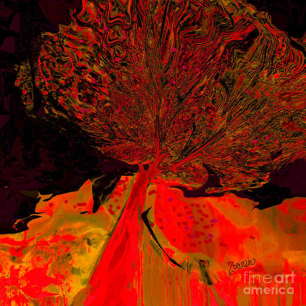 Organic Abstraction Mixed Media - Trees Of A Different Color No.6 by Zsanan Studio
