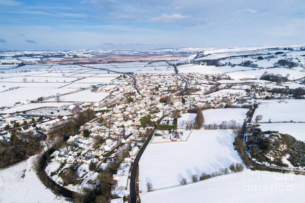 Photograph - Tregaron Village, Mid Wales, In The Snow by Keith Morris