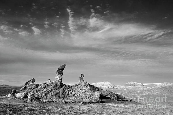 Middle Of Nowhere Photograph - Tres Marias In Monochrome Moon Valley Chile by James Brunker