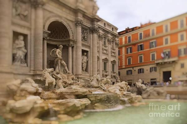 Photograph - Trevi Fountain Magic - Rome by Mary Machare