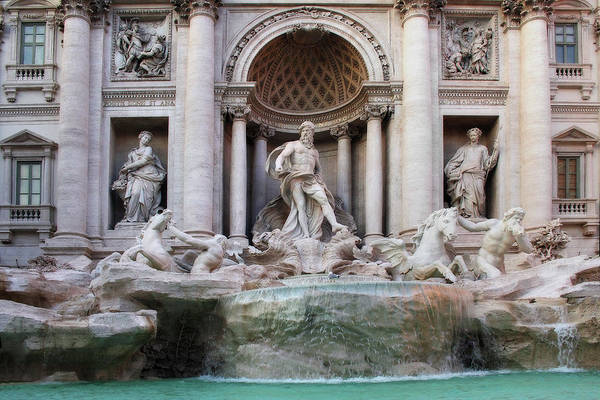 Photograph - Trevi Fountain Or Fontana Di Trevi In Rome Italy by Angela Rath