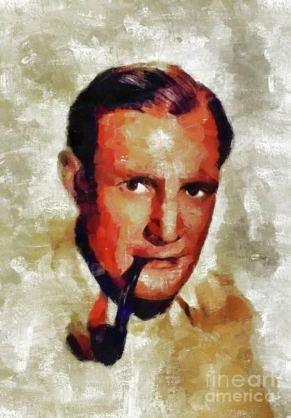 Howard Painting - Trevor Howard, Vintage Actor by Mary Bassett