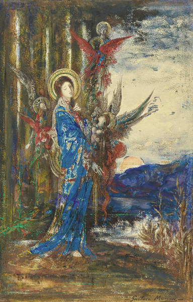Wall Art - Painting - Trials by Gustave Moreau