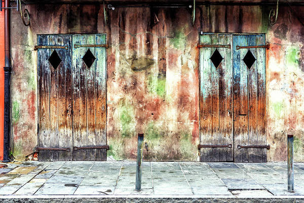 Photograph - Triangle Doors At Preservation Hall In New Orleans by John Rizzuto