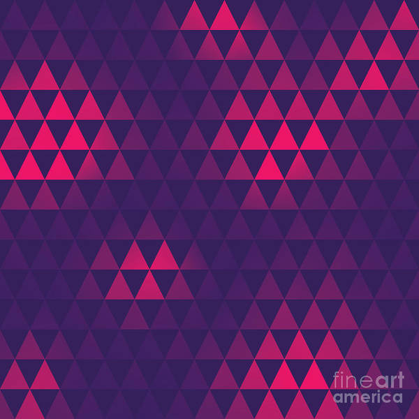 Celebration Digital Art - Triangle Pattern, Vector Illustration by Oliopi