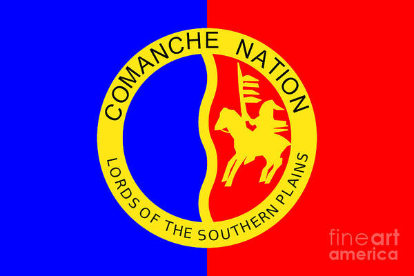 Tribal Dance Digital Art - Tribal Flag Of The Comanche Nation by Peter Ogden Gallery