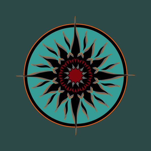 Digital Art - Tribal Sun by David Manlove