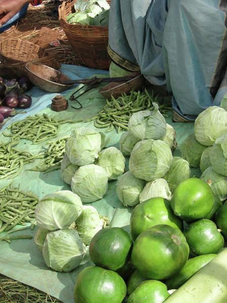 Photograph - Tribal Women Sell Fresh Cabbage  by Steve Estvanik