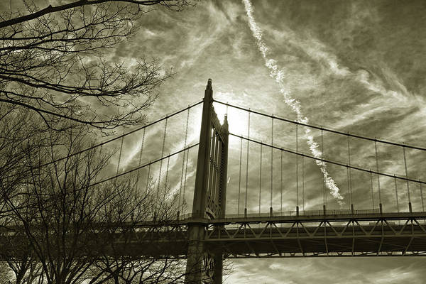 Photograph - Triboro Bridge In Gold by Cate Franklyn