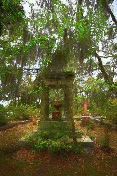 Digital Art - Tribute In Bonaventure Cemetary II by Jon Glaser