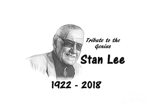 Mixed Media - Tribute Stan Lee by Ed Taylor