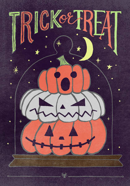 Painting - Trick Or Treat Halloween Art by Jen Montgomery