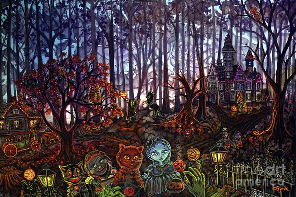 Painting - Trick Or Treat Sleepy Hollow by CBjork