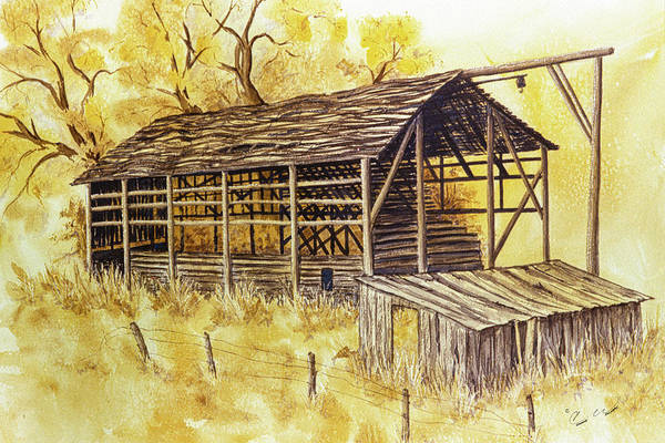 Painting - Trickle Bridge Barn by Connie Williams