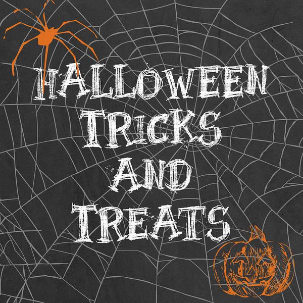 Spider Digital Art - Tricks And Treats by Sd Graphics Studio