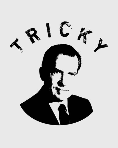 Wall Art - Digital Art - Tricky Dick - Richard Nixon Graphic by War Is Hell Store