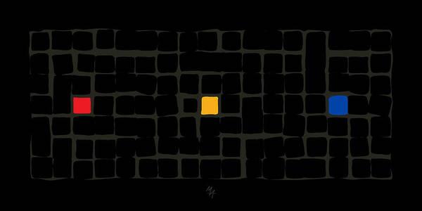 Digital Art - Tricolor In Black by Attila Meszlenyi