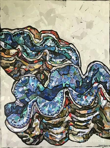Wall Art - Mixed Media - Tridacna Maxima by Constance Sartor
