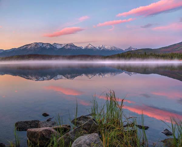 Photograph - Trident Range From Pyramid Lake, Jasper by