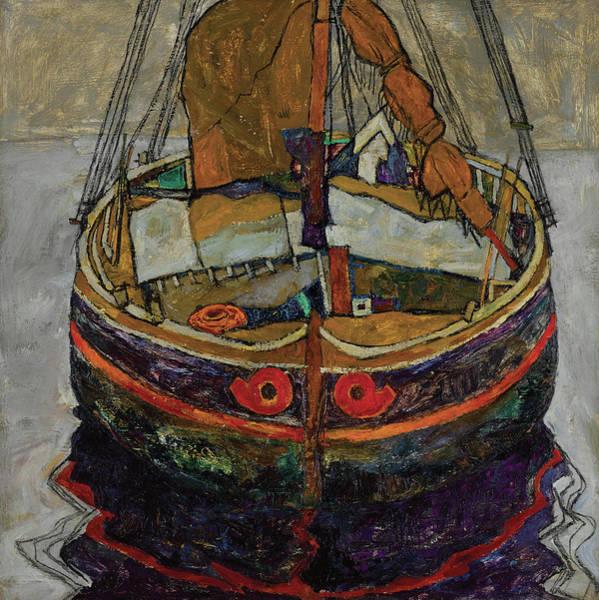 Wall Art - Painting - Trieste Fishing Boat, 1912 by Egon Schiele