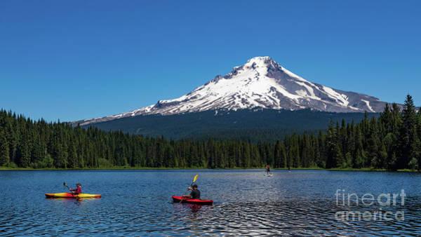 Photograph - Trillium Lake And Mount Hood by Doug Sturgess