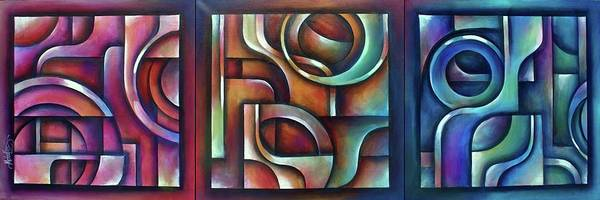 Wall Art - Painting -  Trilogy by Michael Lang