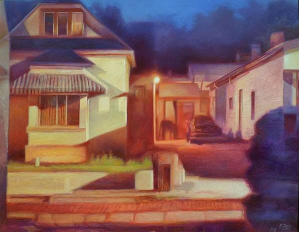 Painting - Trinidad Commercial Street by Hans Droog