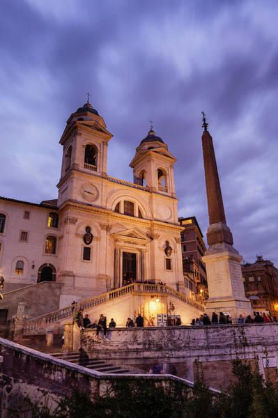 Wall Art - Photograph - Trinita Dei Monti Church At Top Of by Richard I'anson