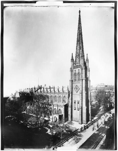 Trinity Photograph - Trinity Church by The New York Historical Society