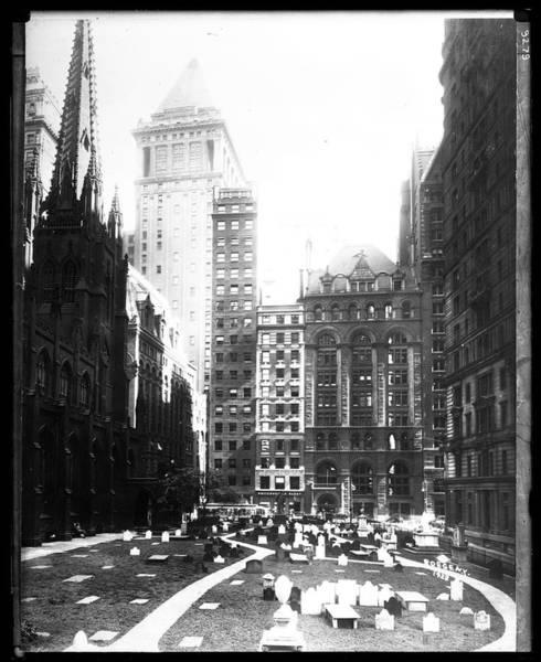 East Side Photograph - Trinity Churchyard by The New York Historical Society