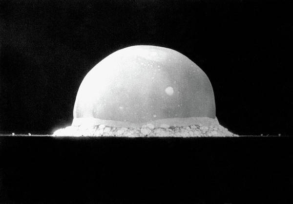 Nuclear Bomb Wall Art - Photograph - Trinity Nuclear Test Bomb Fireball - 1945 by War Is Hell Store