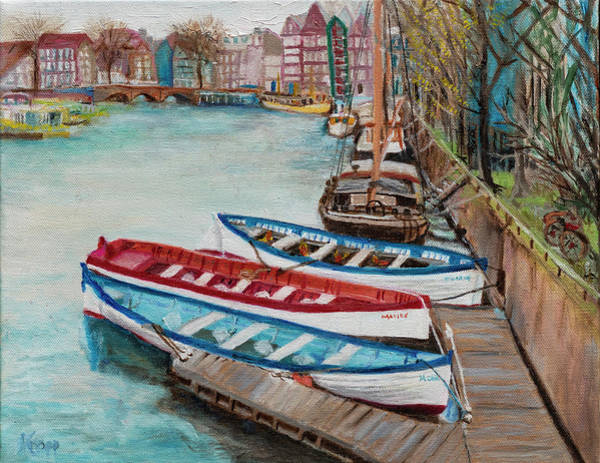 Painting - Trio Of Boats by Kathy Knopp