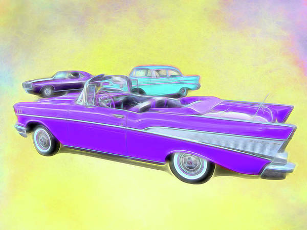 Digital Art - Trio Of Chevy's by Rick Wicker